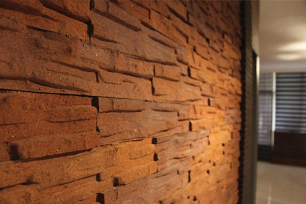 پلاک نسوز صخره ای 8x40cm - رنگ بندی: شاموتی روشن قرمز جیگری تیره