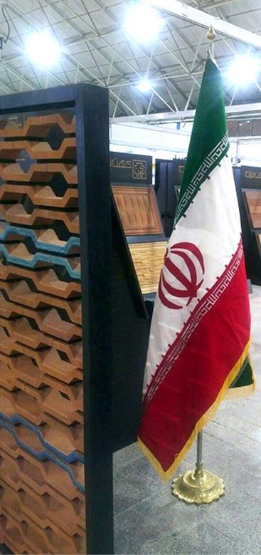 آجر نسوز فخر و مدین - محصول جدید آجر نسوز نما کهن سرام در سومین نمایشگاه صنعت ساختمان تبریز