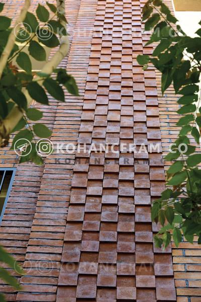 نمای ساختمان کار شده یا انواع آجر نسوز رستیک - پلاک شیاری، شاموتی و ... واقع در خیابان 17 شهریور تهران