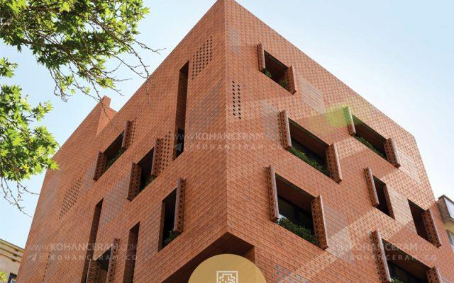 پروژه ساختمان مركزى آجر نمای نسوز كهن سرام